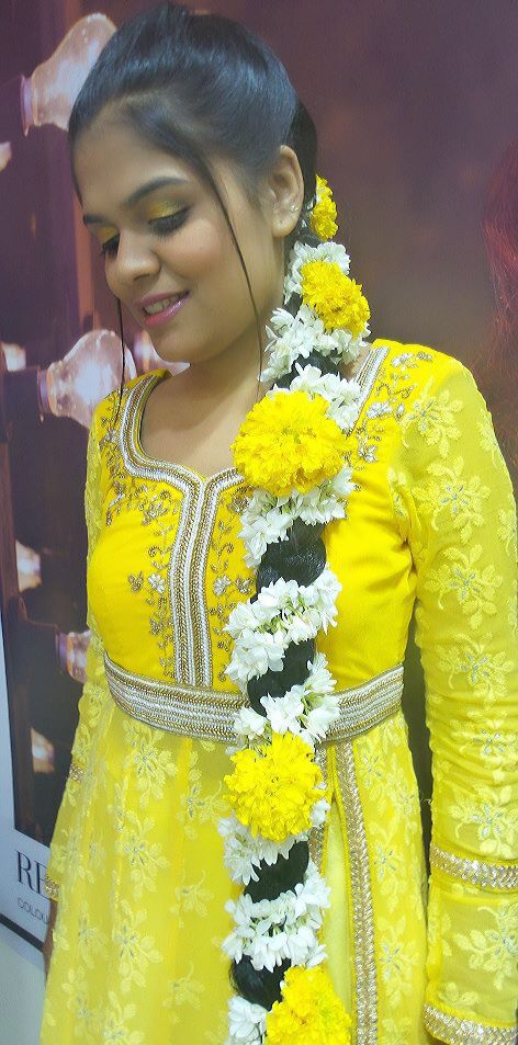 #indian wedding #indian bride #south Indian #haldi ceremony #kerala bride #kerala wedding #beautiful #muslim bride #kerala bride #wedding #Bride #flowers ##fashion #hairstyle #yellow