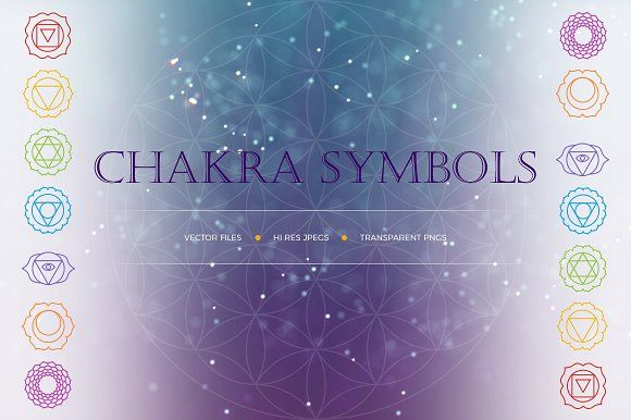 Chakra Symbols and Patterns Vector  by Vik_Tory_Design on @creativemarket
