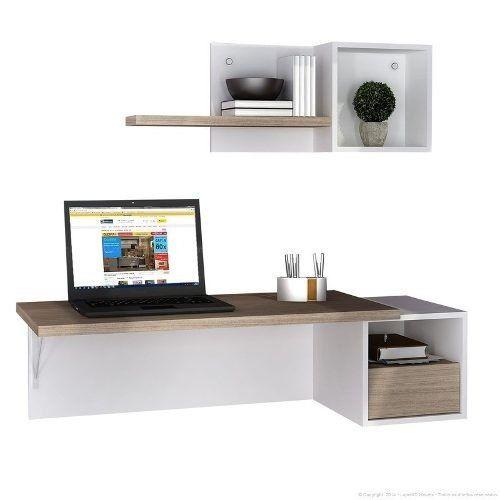 escritorio flotante melamina pc oficina notebook