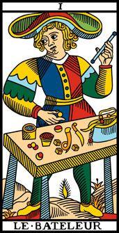 Arcano 1. Le Bateleur. El Mago. Tarot de Marsella.