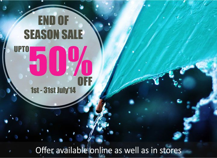 Its a perfect way to welcome the late monsoons…Our End of Season Sale upto 50% off on all natural and vegan beauty, wellness skin, hair and body care products all month long in-stores as well online on www.thenaturesco.com Hurry!!
