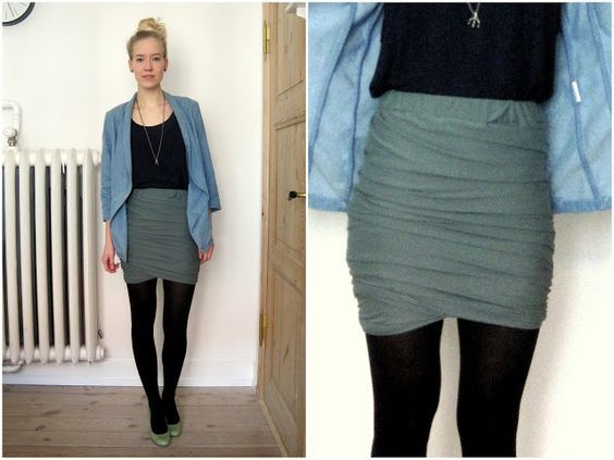 Twisted skirt, MARIES FABRIK: DIY // Draperet Nederdel