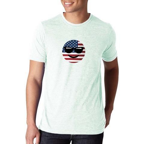 american flag Emoji Shirt buy online free shipping apparel gym crossfit fit male unisex female girl boy gift fresh casino