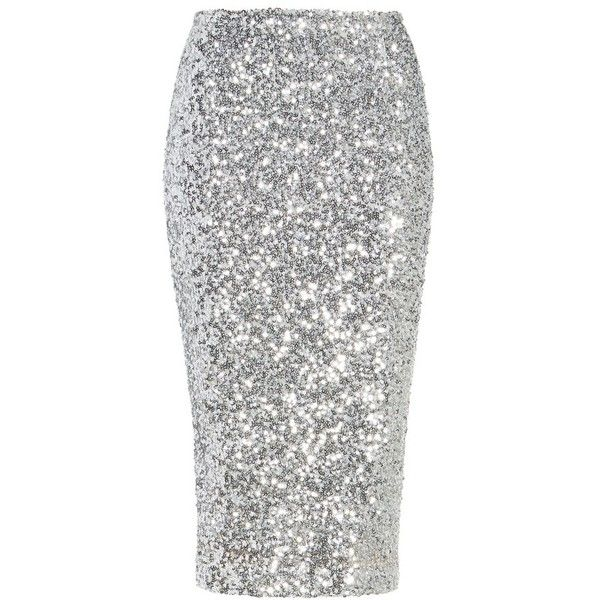 Women's Halogen Sequin Pencil Skirt ($53) ❤ liked on Polyvore featuring skirts, petite pencil skirt, petite white skirt, holiday skirts, evening skirts and sequined pencil skirts