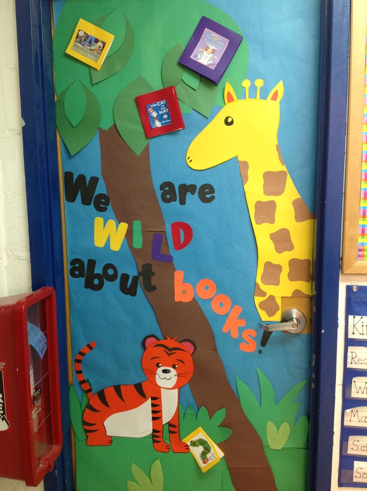 Ms. D kindergarten classroom door.