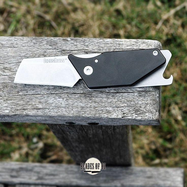 Kershaw Pub Black Handle Keychain Knife by Dmitry Sinkevich