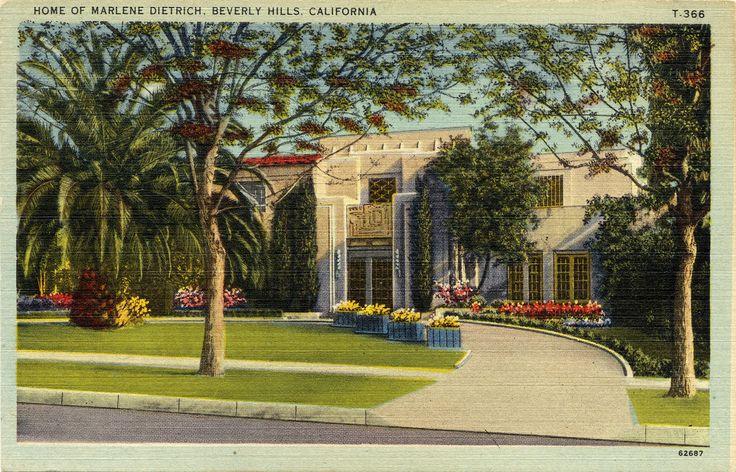 Home of Marlene Dietrich, Beverly Hills, California.