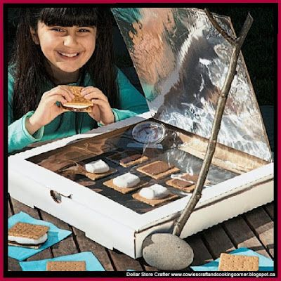 Dollar Store Crafter: Turn A Pizza Box Into A Solar Oven To Cook Your S'...