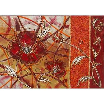 Quadri Moderni Floreali Materico acrilico su tela. Vivace nei colori e piacevole nel soggetto, il quadro floreale astratto arricchito da tecniche decorative diverse, si inserisce sia nell'arredamento moderno che classico. http://www.gartem.it/Papavero-astratto-quadri-moderni-floreali