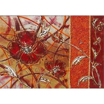 Quadri moderni floreali materico acrilico su tela vivace for Quadri con rose rosse
