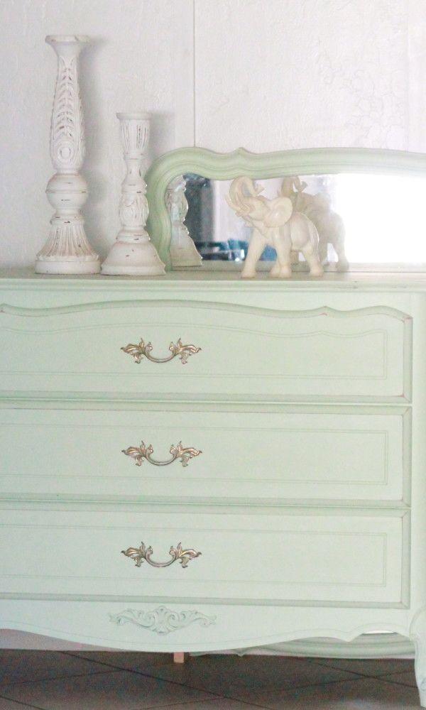 Mint Dresser Redo  painting tutorial