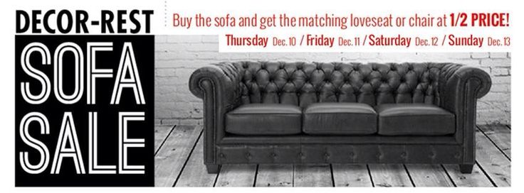 Decor Rest Sofa Sale!