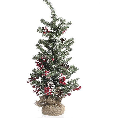 Factory Direct Craft Artificial Tabletop Christmas Tree with Red Berry and Snow Accents for Holiday Decor * Click image to review more details.
