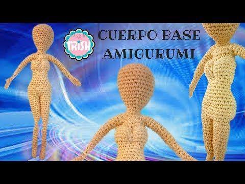 En este vídeo os traigo el patrón de la base del cuerpo de una muñeca amigurumi, es de nivel avanzado, muy bien explicado paso a paso, pa...