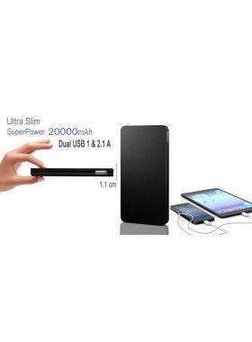 Ultra Slim Φορητή μπαταρία USB 20.000mAh Για Smartphones, iphone, tablets!