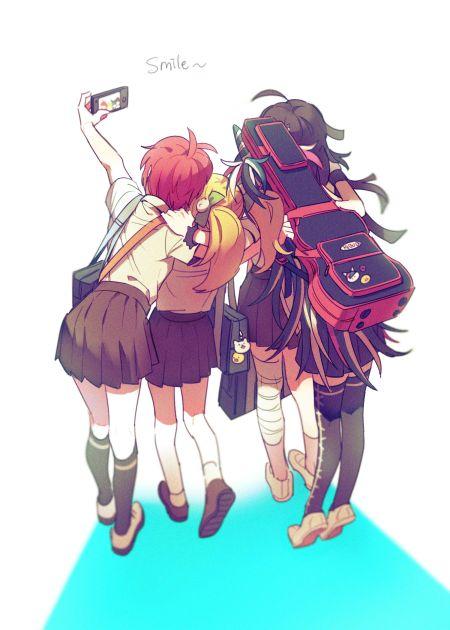 Super Dangan Ronpa 2 - Mahiru Koizumi, Hiyoko Saionji, Mikan Tsumiki, and Ibuki Mioda