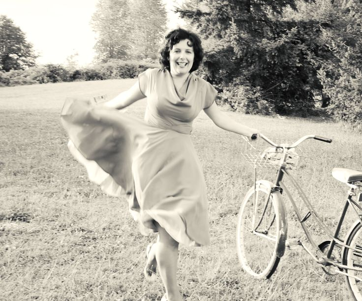 My love of bicycles and pretty dresses.
