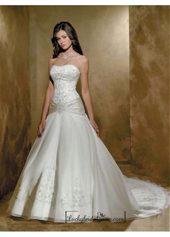 Beautiful Exquisite Elegant Wedding Dress In Great Handwork