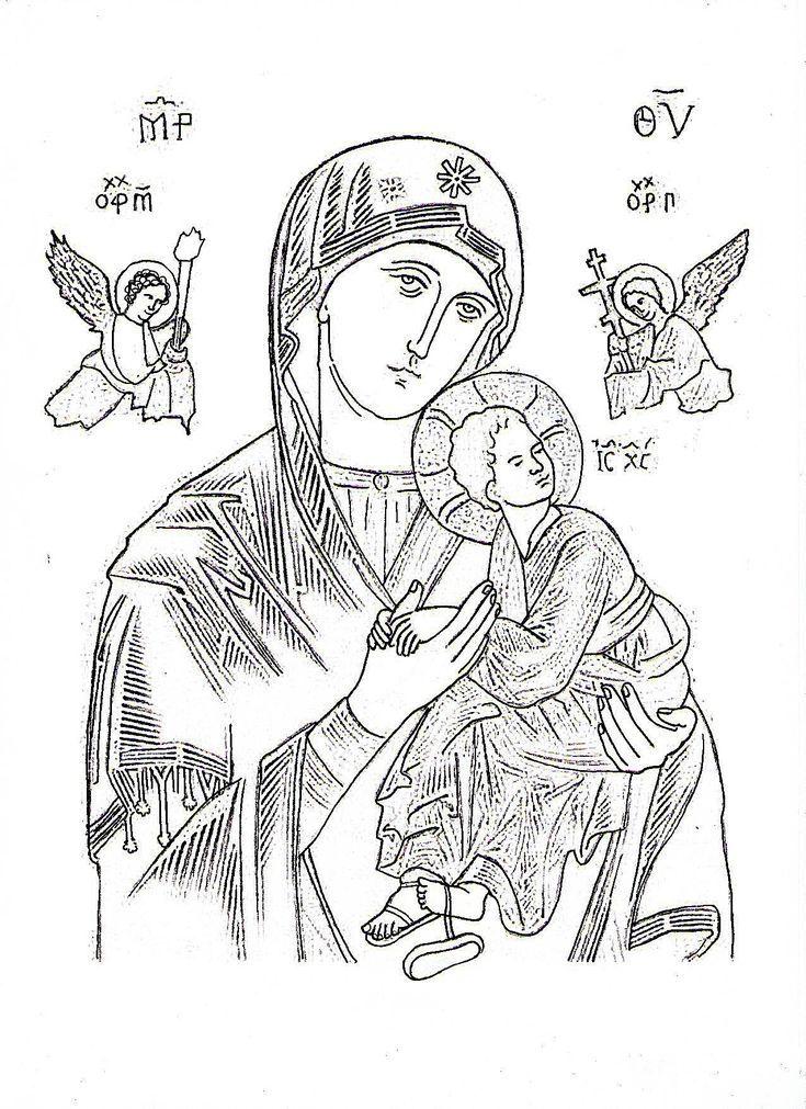 Inspirate A Pintar A La Virgen Maria Como Parte De Tu Practica Espiritual Dibujo De Nuestra Senora D Virgen Maria Imagenes De La Virgen Dibujos Simples Tumblr