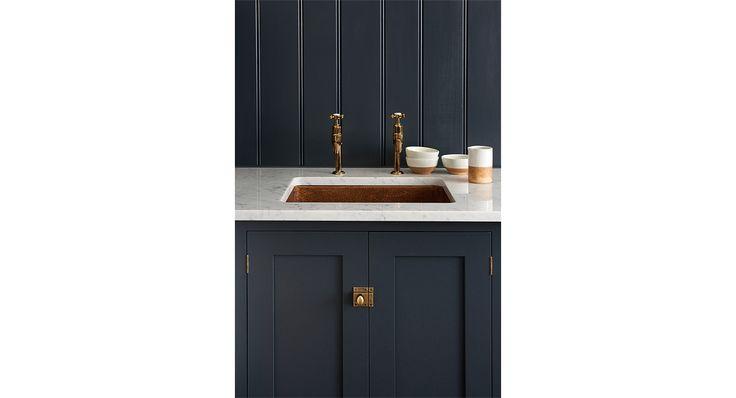 Shaker utilitry copper sink