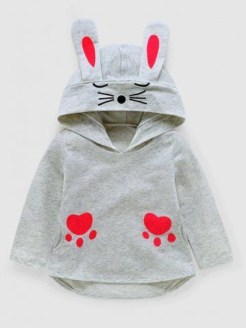 Casual Bow Fruit Printing Round Collar Sweatshirt with Free Shipping | jollyhers