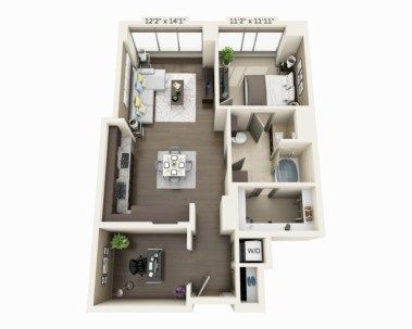 The 25+ best Studio apartment floor plans ideas on Pinterest ...