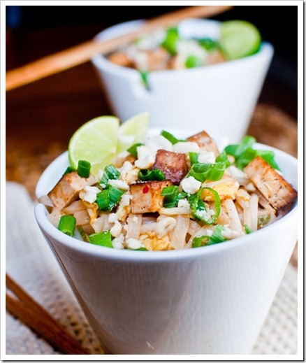 pad thai.. i would add lettuce, mint, and chopped cukes too.