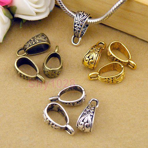 12pc Tibetan Silver Gold Bronze Charm Pendant Bail Connector Fit Bracelet M1101   eBay