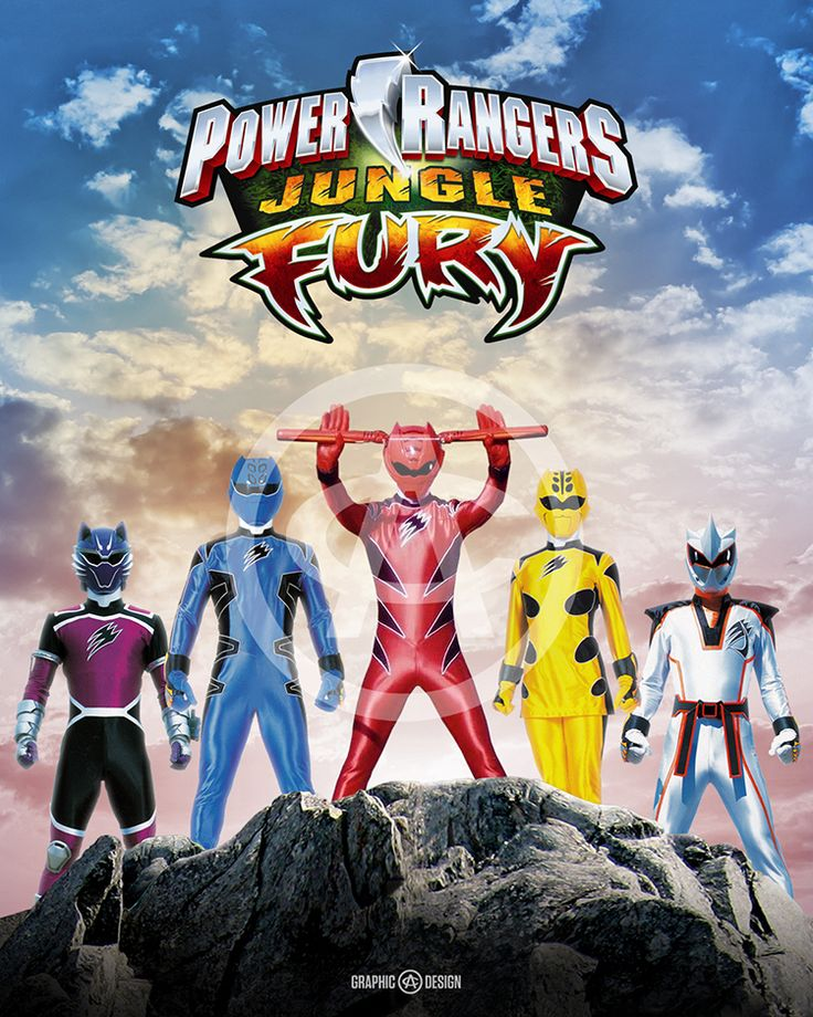 8+x+10+glossy+print+of+the+legendary+Power+Rangers+Jungle+Fury.