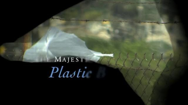 "This mockumentary is narrated by Academy Award-winner Jeremy Irons and tracks the ""migration"" of a plastic bag from a grocery store parking lot to the ""Great Pacific Garbage Patch"" in the Pacific Ocean."