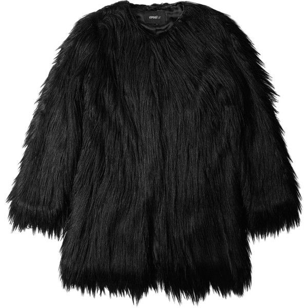 Unreal Fur Black Wanderlust Faux Fur Coat found on Polyvore