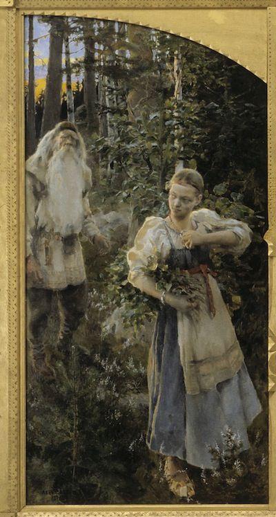 Akseli Gallen-Kallela, Aino triptyykki (vasen paneeli)