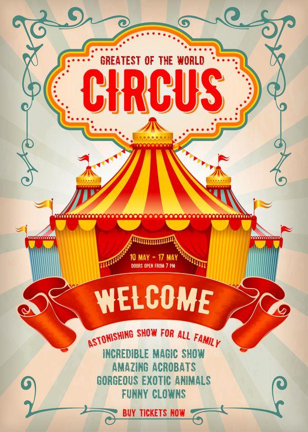 Vettore Di Modello Del Manifesto Di Carnevale Beige 02 Gratuito Eps File Beige Carnevale Poster Template Vettoriale Advertising Poster Vintage Circus Flyer
