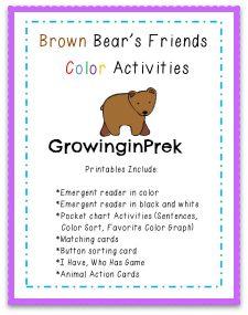 Brown Bear activities $2.00