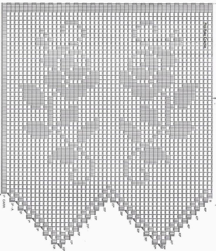 Kira scheme crochet: Scheme for curtains