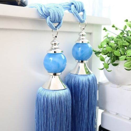 12 Luxury Tassel Tieback Curtain Holdback BLUE / by Blessed9680