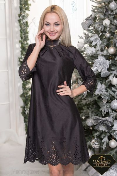 Есть размеры: 42-44, 44-46, 46-48, 48-50 Цвета: черный, электрик и бордо. Стильный вариант – платье с перфорацией. Подчеркивает Ваш вкус и неповторимость образа. Изюминкой платья считается выполненная перфорация низа платья, а также рукавов. Модель предназначена как для офиса, так и для