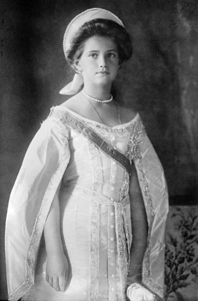 Grand Duchess Marie Nikolaevna of Russia. It is often forgotten that she was the other daughter unidentified when the Romanov royal family's bodies were found. Anastasia was positively identified, but Marie was not.
