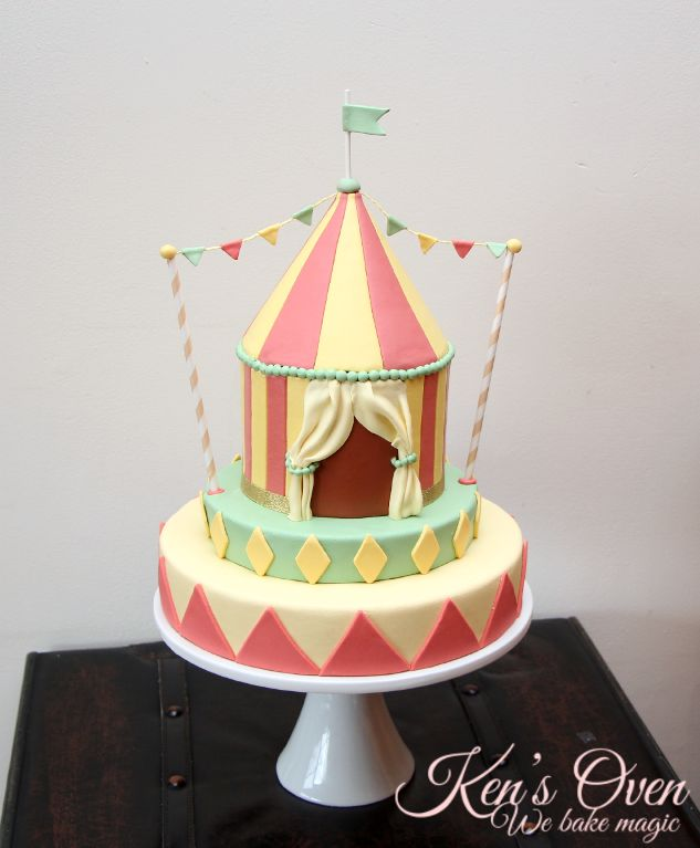 Vintage Circus Cake via Craftsy