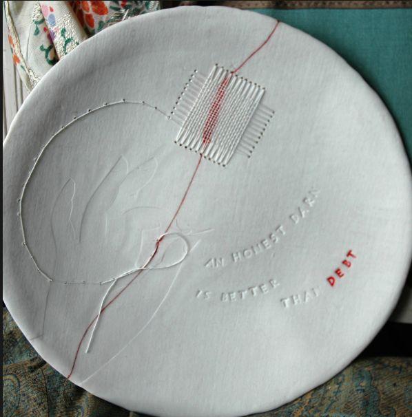 Charlotte ring keramik braun