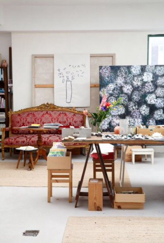 "This vivid atelier is from our feature ""Loft of her Life"""