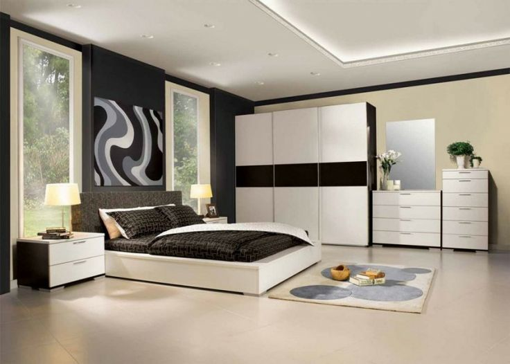 bedroom white and black color scheme decorating tips for bedroom and wooden bedroom cabinets also large. beautiful ideas. Home Design Ideas