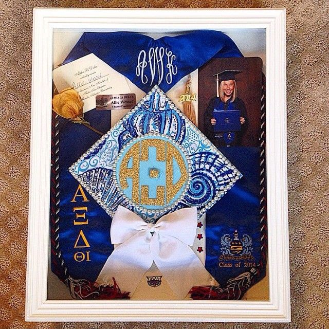 cute & crafty of the day ~ the cutest AΞ∆ grad shadow box! ♡
