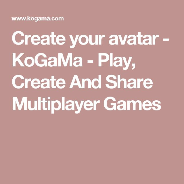 Create your avatar  -  KoGaMa - Play, Create And Share Multiplayer Games