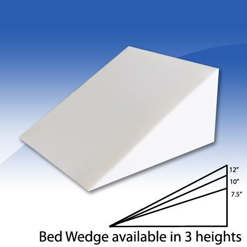 Foam Bed Wedge Pillow Cushion with Cover  3 Size Opitions Wedge Pillow