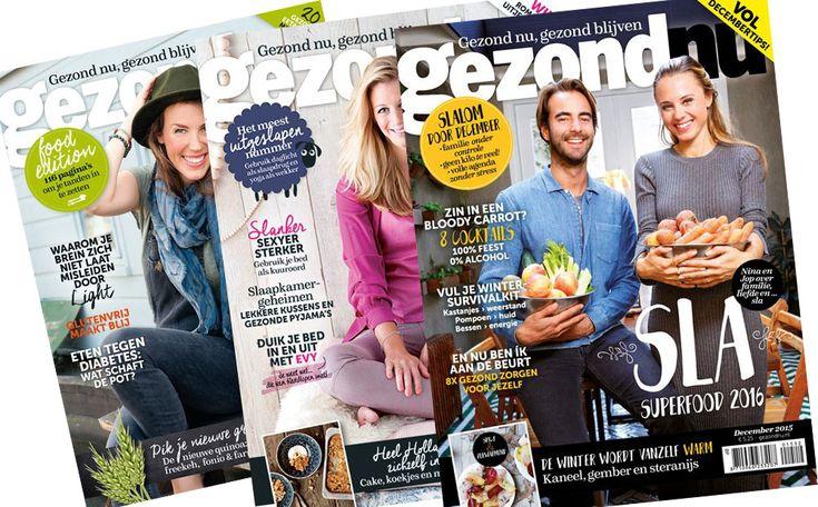 Lekker wegkruipen op de bank met een fijn tijdschrift? Dat kan. Het magazine gezondNU staat boordevol informatie over gezondheid, voeding en psyche. Wij verloten vijf jaarabonnementen. Dat wordt dus twaalf maanden lang leesplezier!