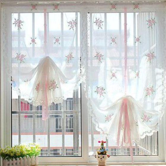 cortinas blancas transparentes
