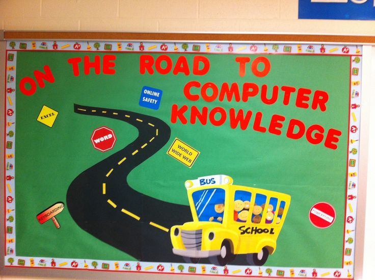Elementary computer lab bulletin board