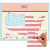 Scratch map usa - poster mappa degli stati uniti d'america...