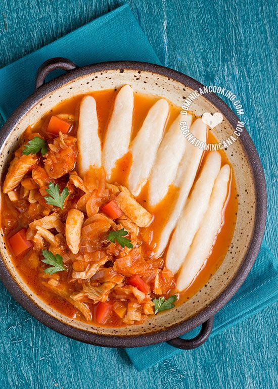 Domplines Recipe (Dominican-Style Dumplings): A pasta-like boiled dough cooked in tomato sauce or cheese-based sauces. Very easy and fun to make.